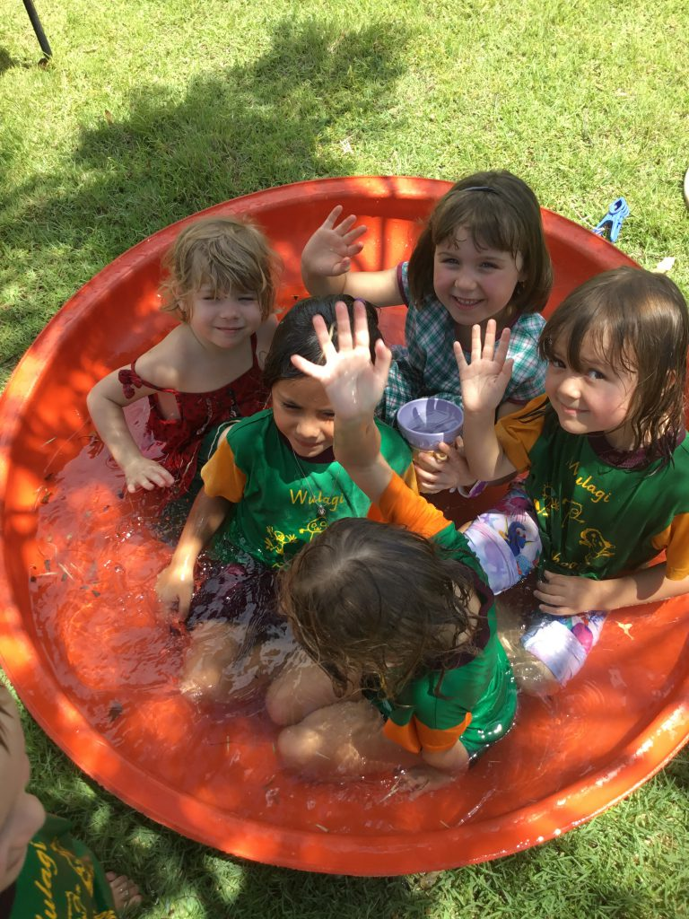 Preschool water play